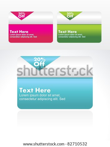 Set of vector banner collection for sale.