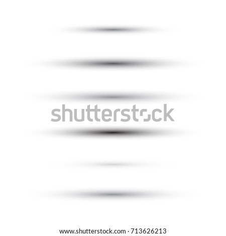 Set of vector set of oval shadows isolated on white background
