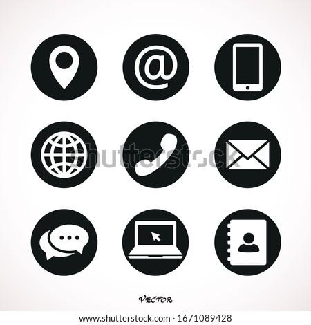 Set of web icon symbol vector Photo stock ©