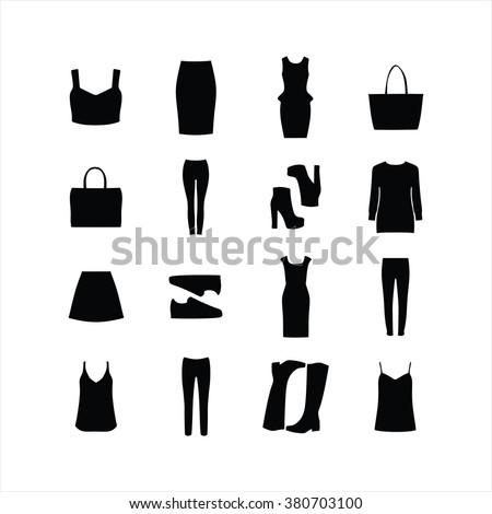 set of women's clothing