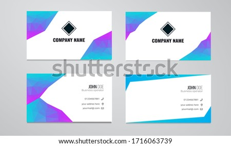 2 sets of business cards made