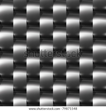 Shiny dark steel (chrome, silver) seamless pattern