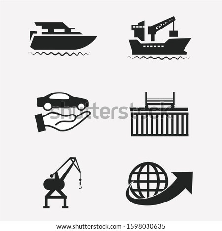 shipping delivery Vector, shipping vector icons set ship, illustration