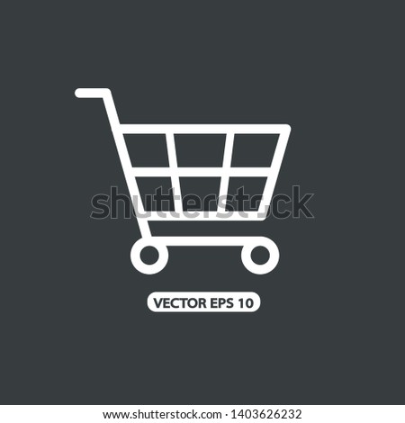 Shopping Cart Icon Vector Illustration black