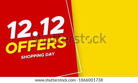 12.12 Shopping day sale poster or flyer design. 12.12 Crazy sales online. EPS 10 ストックフォト ©