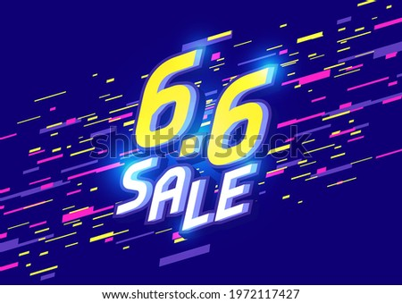 6.6 Shopping day sale poster or flyer design. 6.6 Sale online banner template. ストックフォト ©