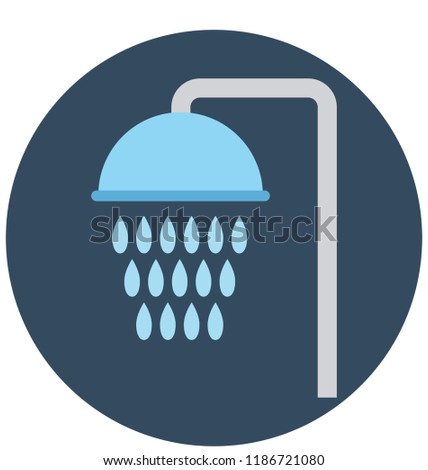 Shower Head Isolated Vector Icon for Construction