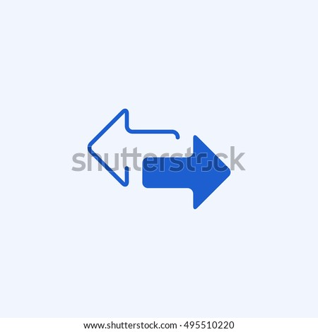 2 side arrow icon, isolated, white background
