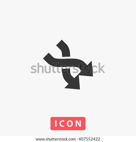 2 side arrow Icon Vector.