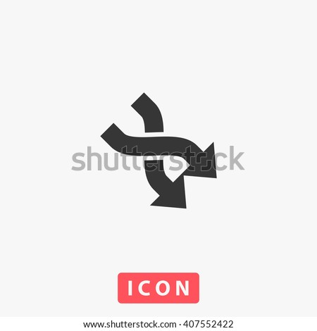 2 side arrow Icon Vector. Simple flat symbol. Perfect Black pictogram illustration on white background.
