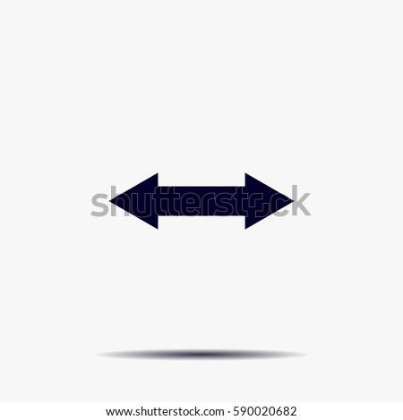 2 side arrow illustration icon