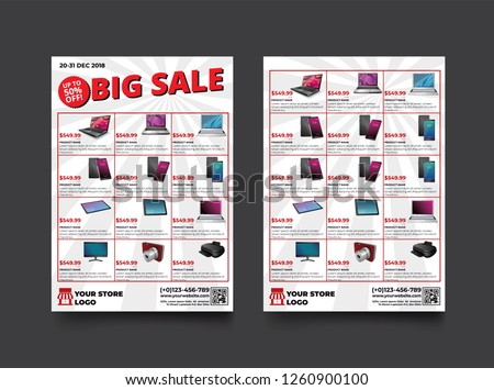 stock-vector--sides-flyer-template-for-big-sale-promotion-with-sample-product-images-for-a-paper-size-with