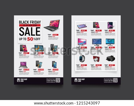 stock-vector--sides-flyer-template-for-black-friday-sale-promotion-with-sample-product-images-for-a-paper