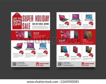 stock-vector--sides-flyer-template-for-holiday-sale-promotion-with-sample-product-images-for-a-paper-size