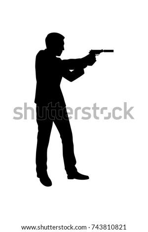 silhouette bodyguard or spy