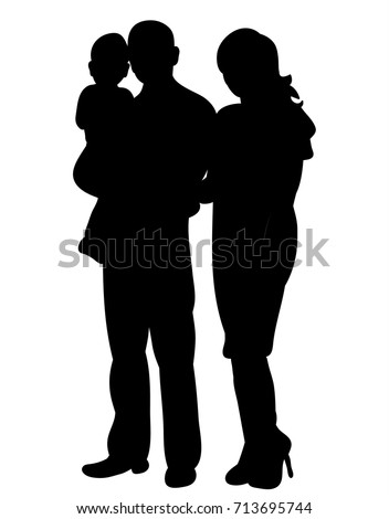 stock-vector--silhouette-of-a-family-isolated