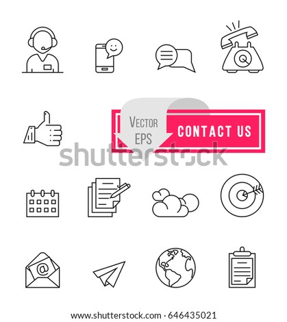 Simple Communication Icons. Can Be Found Such Elements As Earpiece, Speaking Human, International Job And Other.