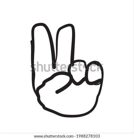 simple peace logo artwork, for societal friendship and harmony in the absence of hostility and violenceor  Foto stock ©