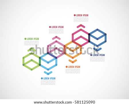 Rhombus Infographic Template Download Free Vector Art Stock