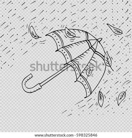 sketch of an umbrella in the