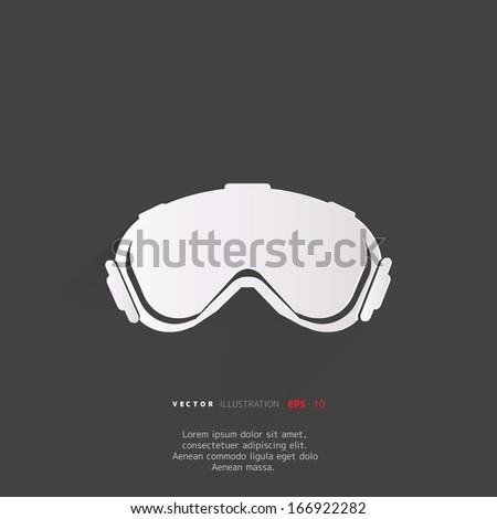 Ski Goggles Vector Ski Goggles Icon Stock