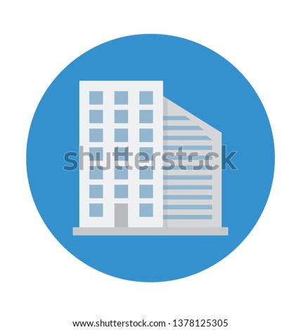Skyline Color Isolated Vector Icon which can easily modify or edit