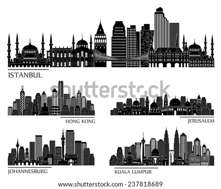 skyline detailed silhouette