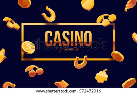 777 slots 3d element isolated on black background with place for text gold icons colors casino