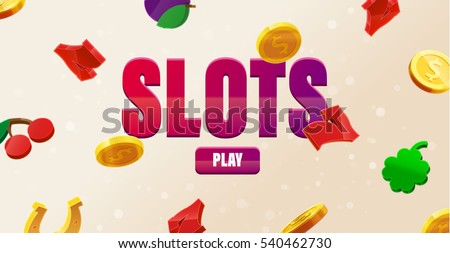 777 slots 3d element isolated on white background with place for text casino object 777 icons gold coins red button play