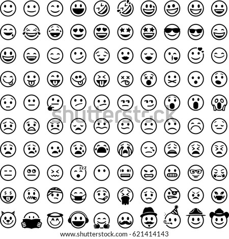 100 Smiley face emoji icons