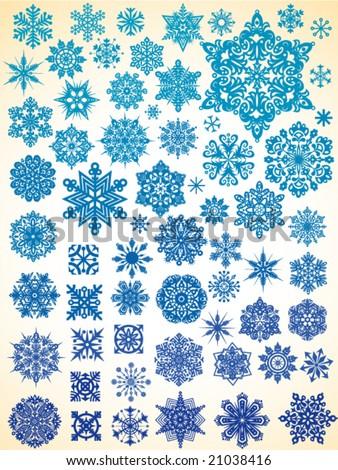 63 snowflakes
