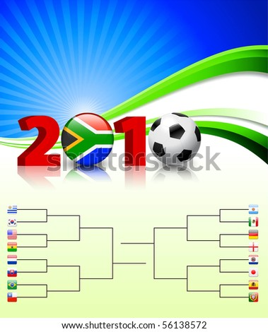 2010 Soccer Championship Bracket Original Illustration