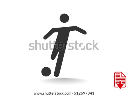Soccer player icon flat.