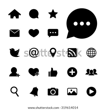 Social network icon. Social media icons. Internet icon. Vector. Illustration. EPS10