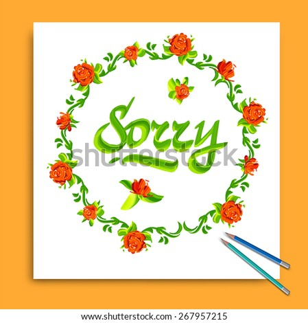 sorry typography lettering