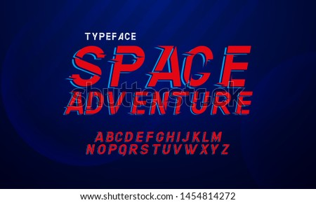 """Space"" a font inspired by the colorful,vintage comic books. The original font, and alphabet."