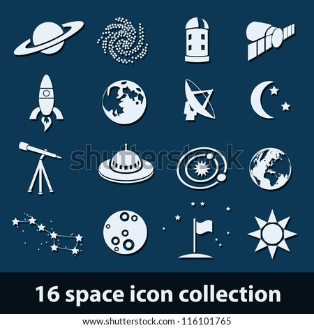 16 space icon collection