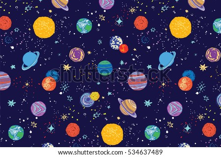 space planets pattern