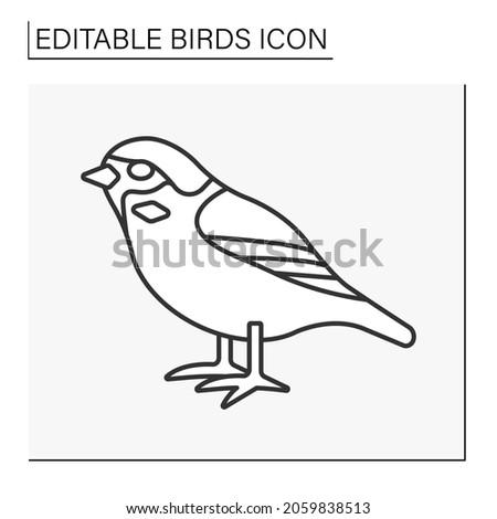 sparrow line icon small
