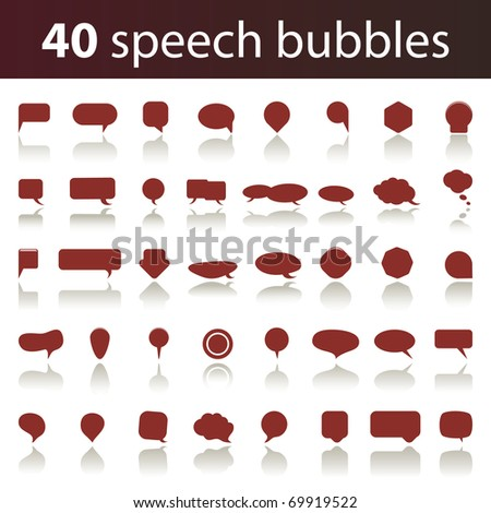 40 Speech Bubbles