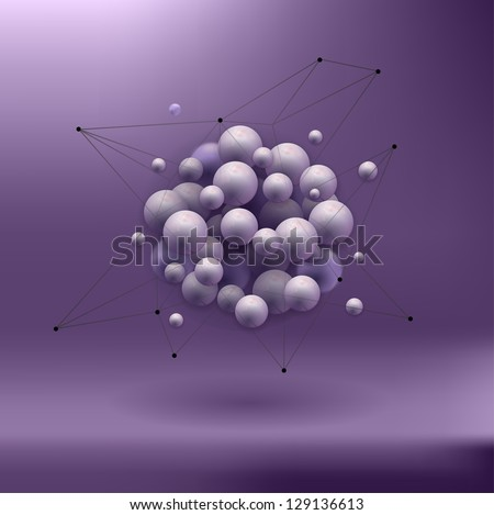 spheres abstract background . molecular structure