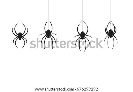 4 spiders coming down one line