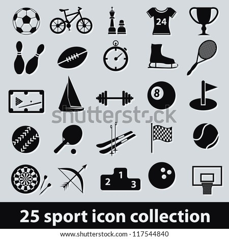 25 sport icon collection
