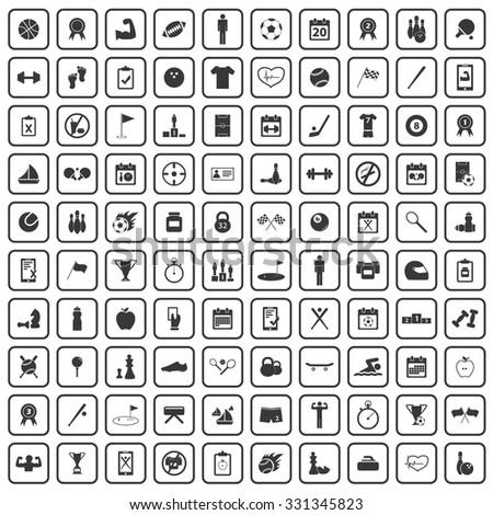 100 sport icons set
