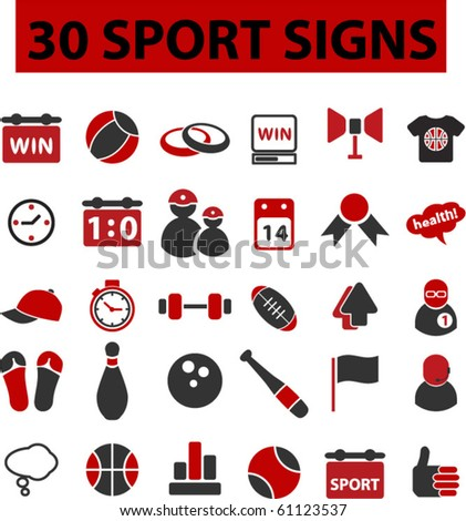 30 sport signs. vector. see more vector signs in my portfolio