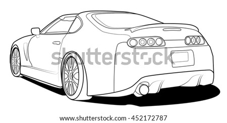 sports car outline  circuit