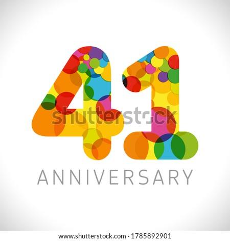 41 st anniversary numbers 41