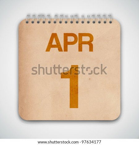 1st April Day Vector
