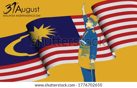 31st August, Malaysia Happy Independence Day  Foto stock ©