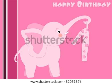 1st Birthday Logo 1st Birthday Little Pink